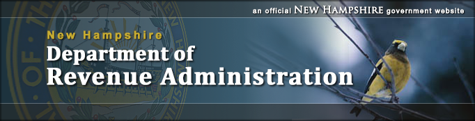 phplist header for the NH Department of Revenue Administration