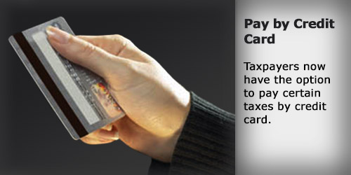 Pay taxes by Credit Card