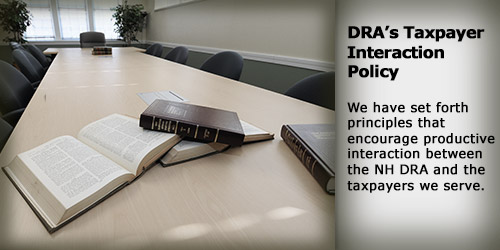 DRA's Taxpayer Interaction Policy